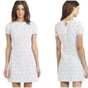 Brooks Brothers White Eyelet Mini Dress Size 4